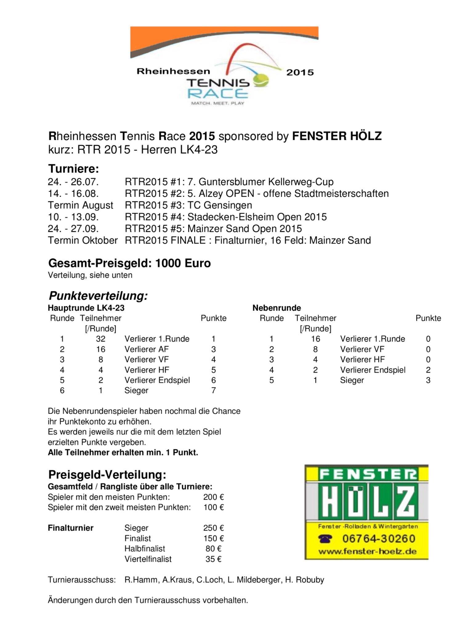 Rheinhessen Tennis Race 2015